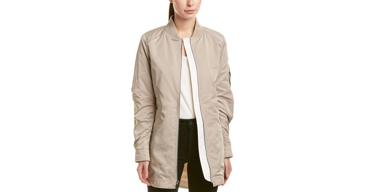 26e4ca3e2 French Connection Natural Elongated Bomber Jacket