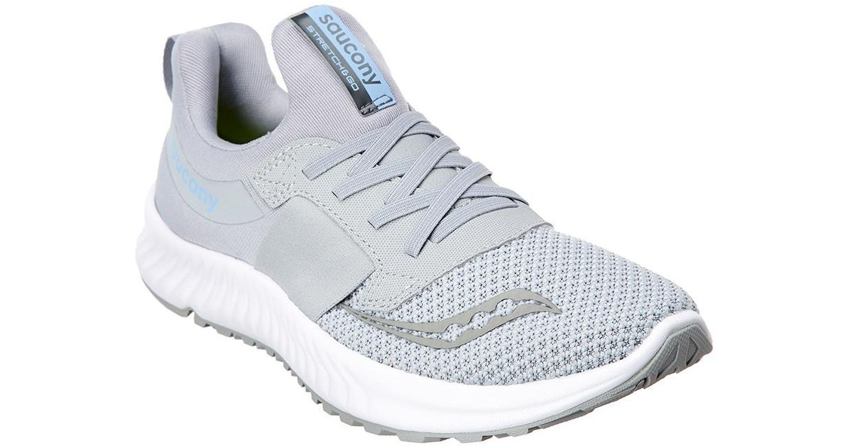 338eaf48717f Saucony Women s Stretch   Go Breeze Trainer in Gray - Lyst