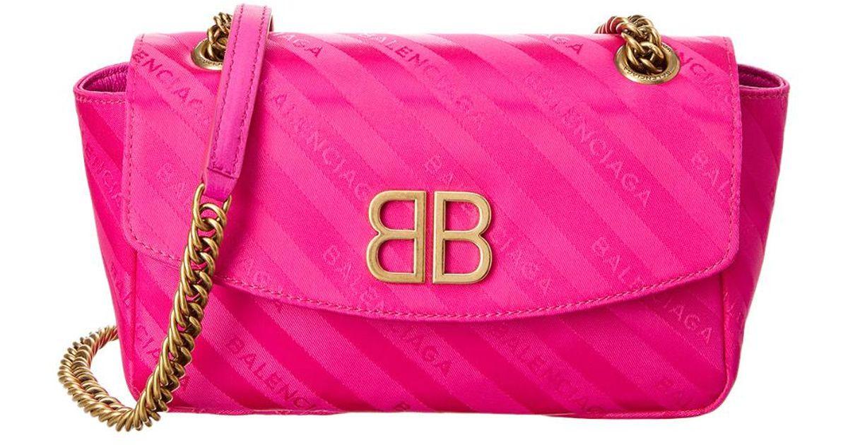 Balenciaga Chaine Round Logo Jacquard Shoulder Bag AcKTq5UQL