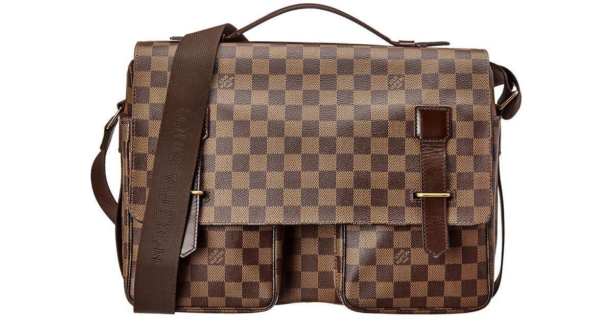 Louis Vuitton Damier Ebene Canvas Broadway in Brown - Lyst 910b2da63f
