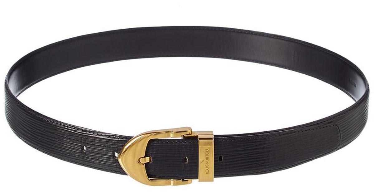 5db4183722ac Louis Vuitton Black Epi Leather Ceinture Classic Belt (size 44) in Black -  Lyst