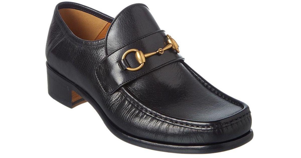 374c3e8e5fb Lyst - Gucci Vegas Horsebit Leather Loafer in Black for Men