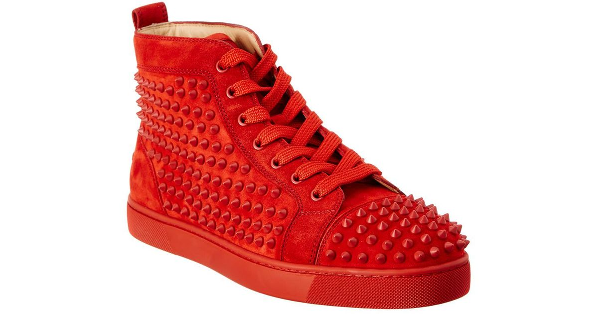 05988d5de26 Lyst christian louboutin louis spike suede high top sneaker in red for men  jpeg 1200x630 Louis