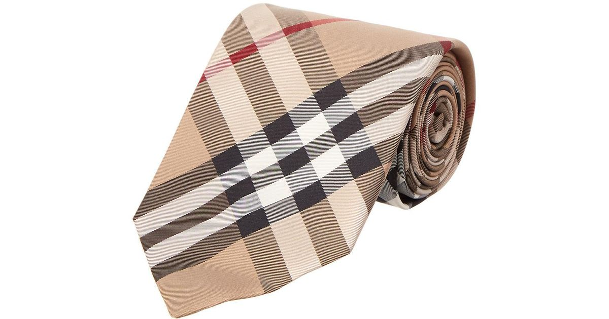 5d3c57bb0d98 ... low price lyst burberry clinton exploded classic check tie in brown for  men 766da 0ad3d
