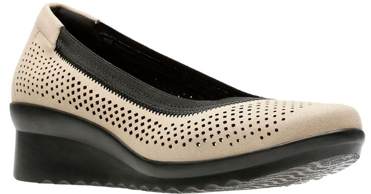 b8508e006b3c Lyst - Clarks Caddell Trail Wedge in Black