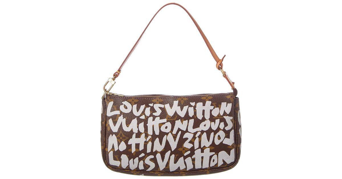 3cbaf16f1b13 Lyst - Louis Vuitton Limited Edition Stephen Sprouse Argent Graffiti  Monogram Canvas pochette Accessoires