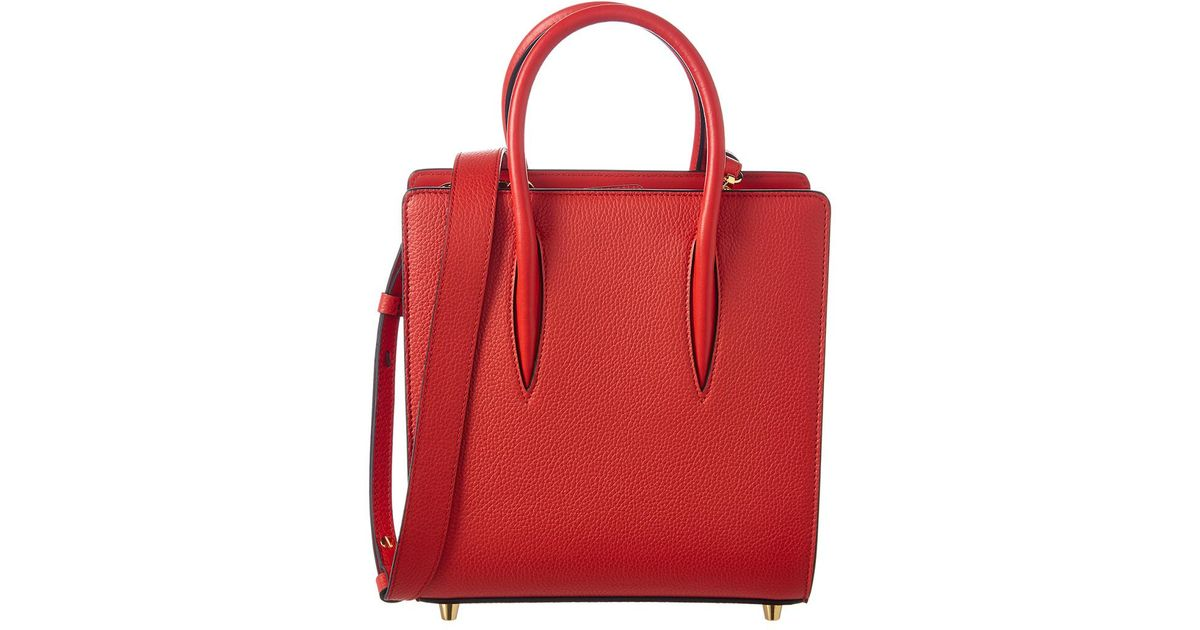 3812735dc01 Christian Louboutin - Red Paloma Small Leather Tote - Lyst