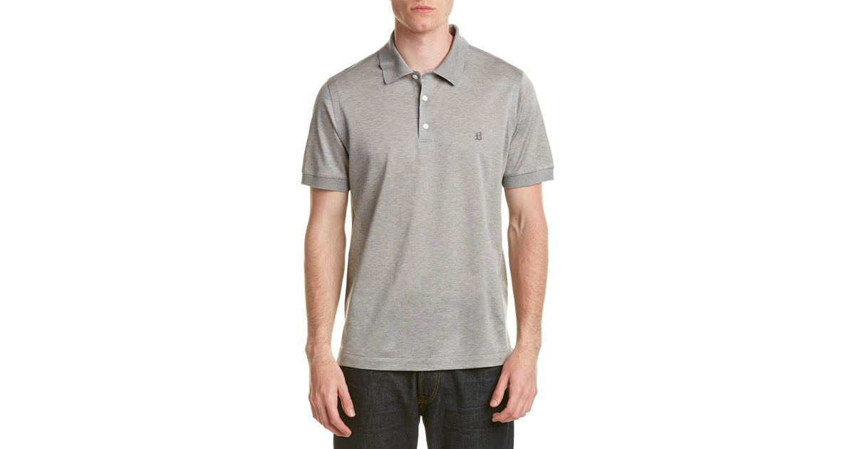 7db4bfb33 Lyst - Brioni Polo Shirt in Gray for Men