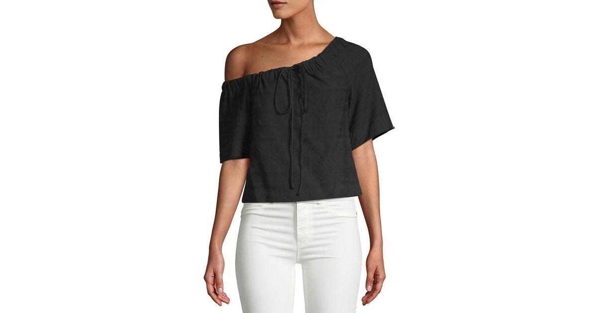 3295990259830 Lyst - A.L.C. Ryland One-shoulder Top in Black - Save 35%