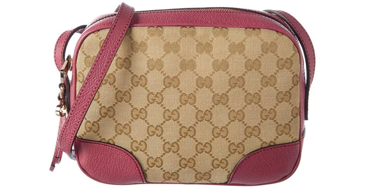 best authentic to buy premium selection Gucci Pink Gg Supreme Canvas Bree Crossbody