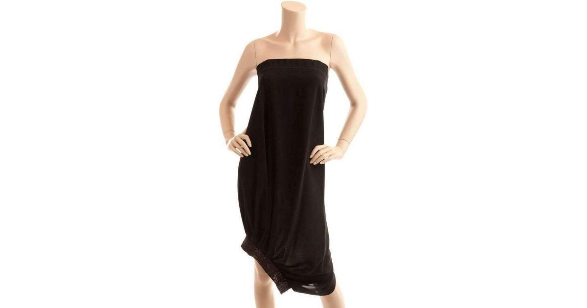 15ee228929 Lyst - BCBGMAXAZRIA Bcbg Maxazria Runway Strapless Black Cocktail Sequin  Dress in Black