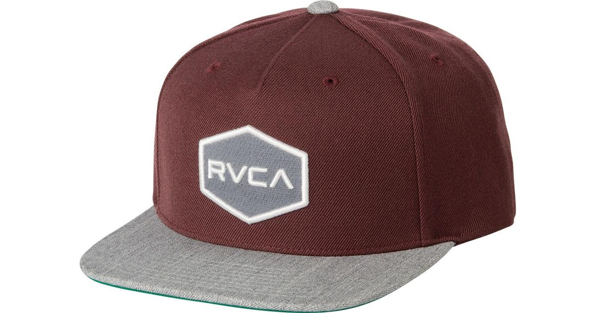 new arrival ff0fc 87fcc ... closeout lyst rvca commonwealth snapback ii hat in red for men d26ec  ed8e6