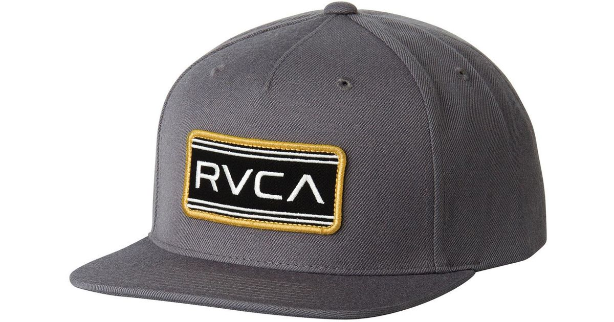 6a1f88e73a4 Lyst - Rvca Indus Five Panel Snapback Hat in Gray for Men