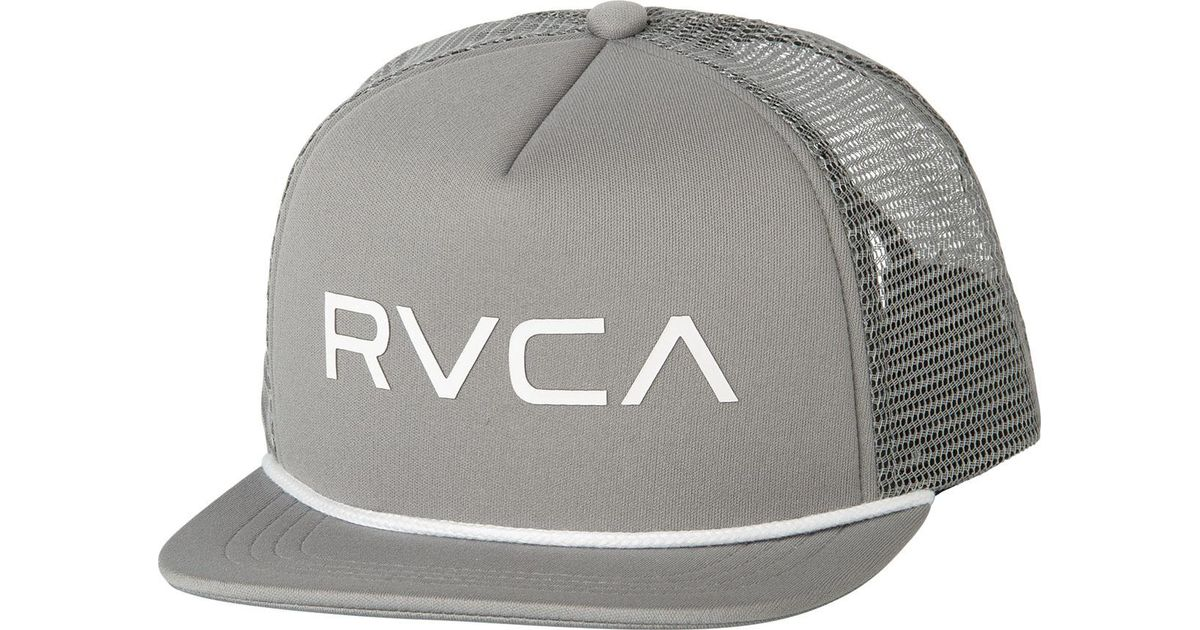 1b20f9bb580a5 Lyst - RVCA Foamy Trucker Hat in Gray for Men