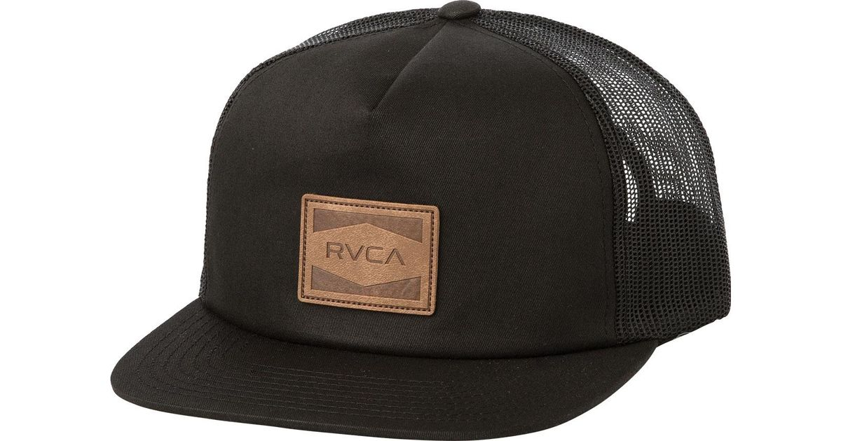 cd33da9e98 Lyst - RVCA Washburn Trucker Hat in Black for Men