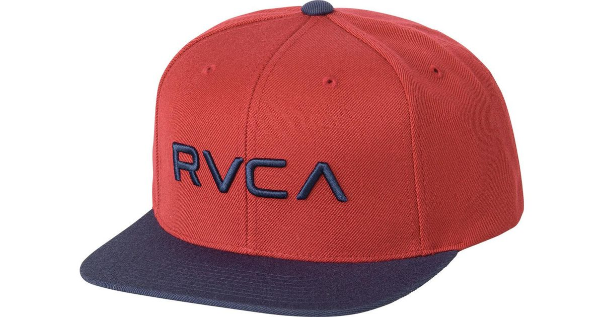 more photos 698ff 258b5 Lyst - RVCA Twill Snapback Iii Hat in Red for Men