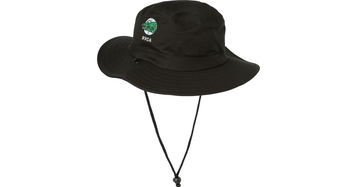 Lyst - RVCA Dmote Boonie Hat in Black for Men f2ddcc209db