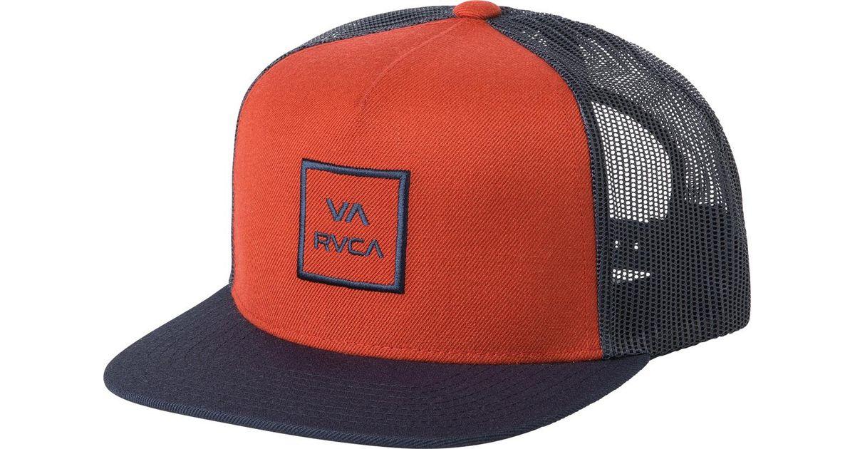 1598e4c9d RVCA - Red Va All The Way Trucker Hat Iii for Men - Lyst