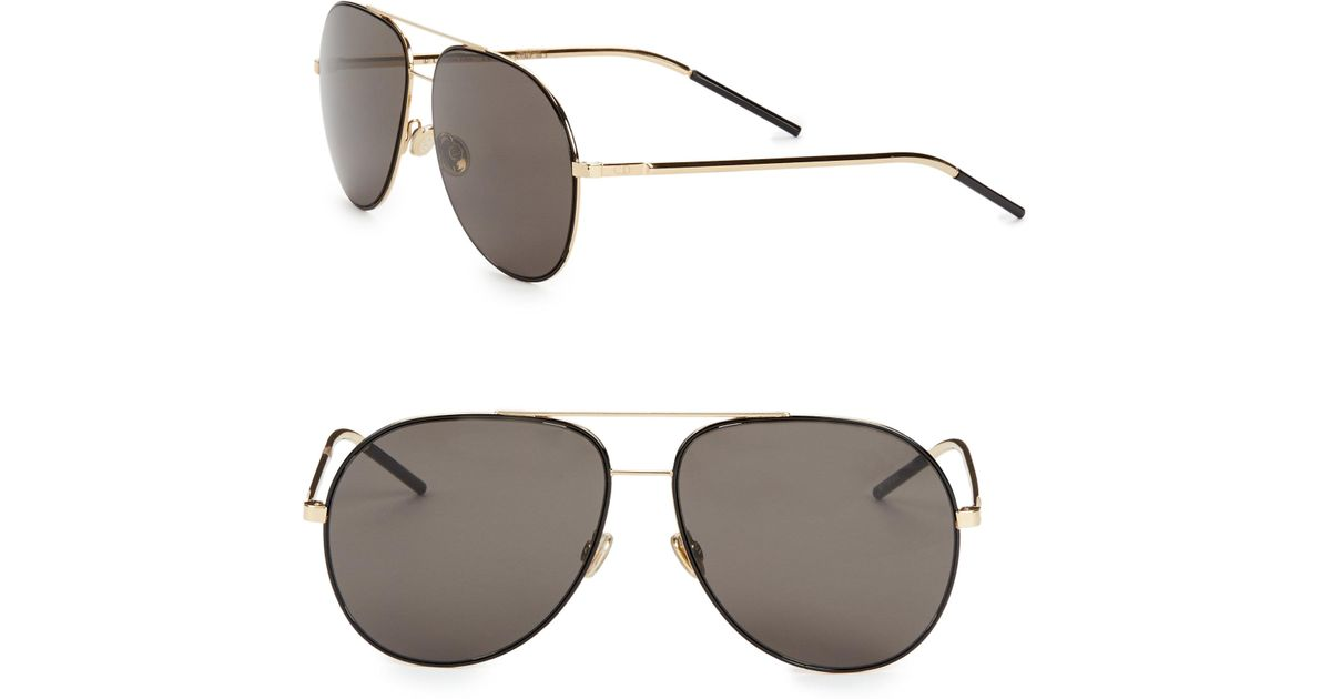 3e8ca7d30b Dior Astral 59mm Aviator Sunglasses in Black - Lyst