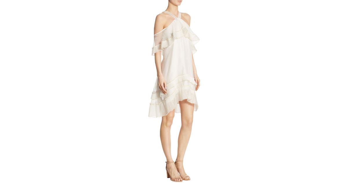 108996e81a6bf DELFI Collective Blake Pleat Loose-fit Dress in White - Lyst