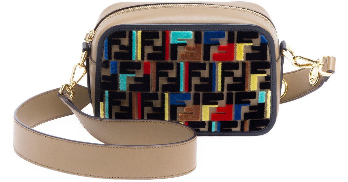 d71d7f5f9ba7 Fendi Tappetino Embroidered Camera Bag - Lyst