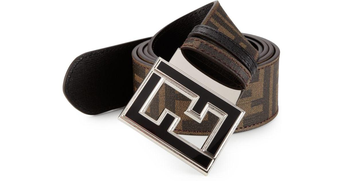 FF logo belt - Brown Fendi z5hzSbOxih