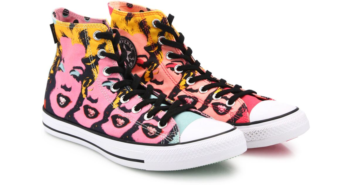 fcc535dcee72e4 Lyst - Converse Chuck Taylor Marilyn Monroe High-top Sneakers