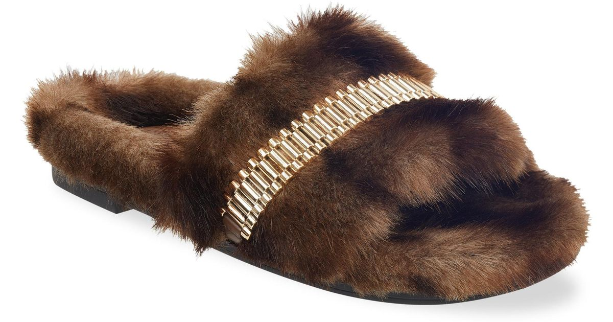 Visit Online Sale In China Kendall & Kylie Shade Slide(Women's) -Medium Brown Faux Fur Cheap Sale Finishline Clearance Enjoy 3dBeQruv