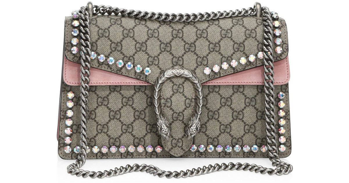 7181b79e9a8f Gucci Small Dionysus Crystal-embellished Chain Shoulder Bag - Lyst