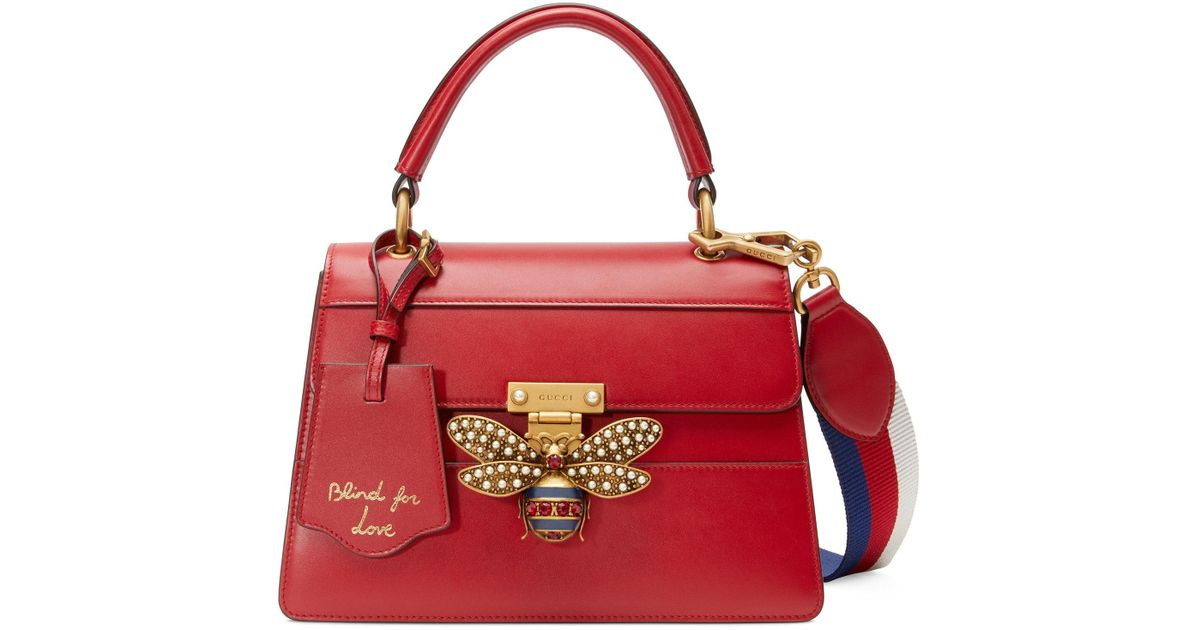 97afc49067ff Gucci Queen Margaret Small Top Handle Bag in Red - Lyst