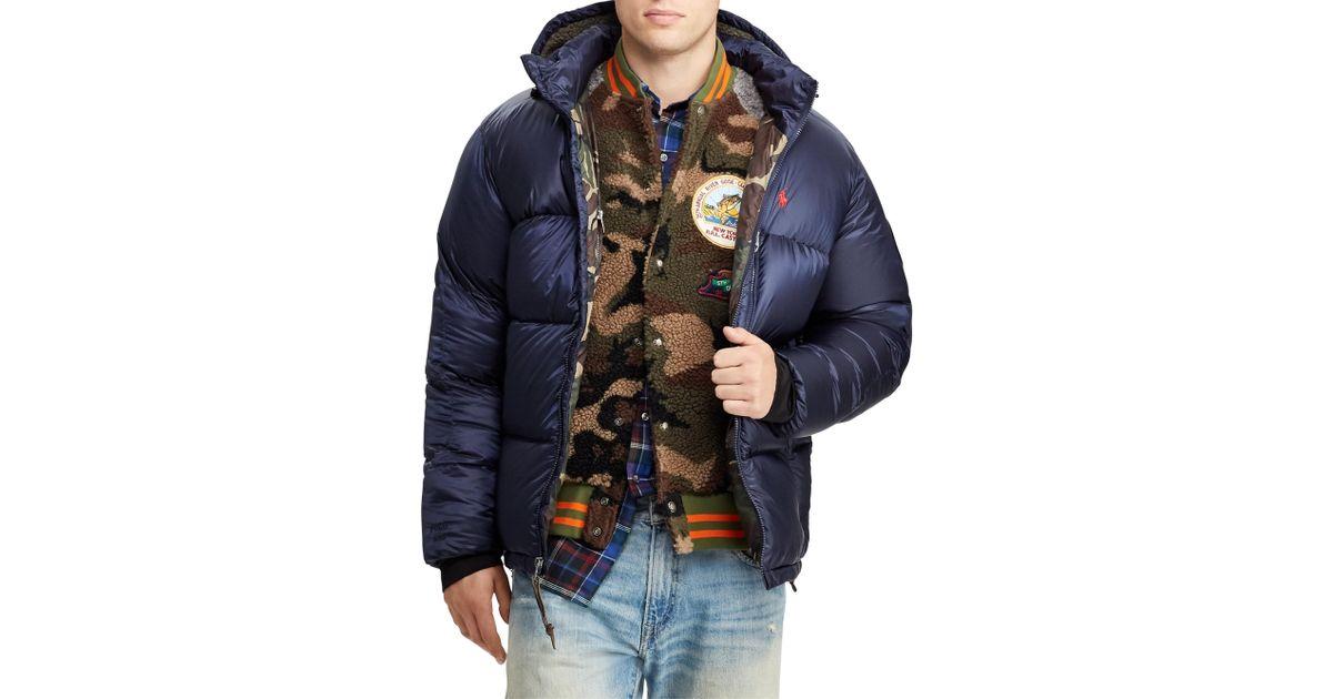 c2b78fda4 Polo Ralph Lauren - Blue Great Outdoors Water-repellent Down Coat for Men -  Lyst