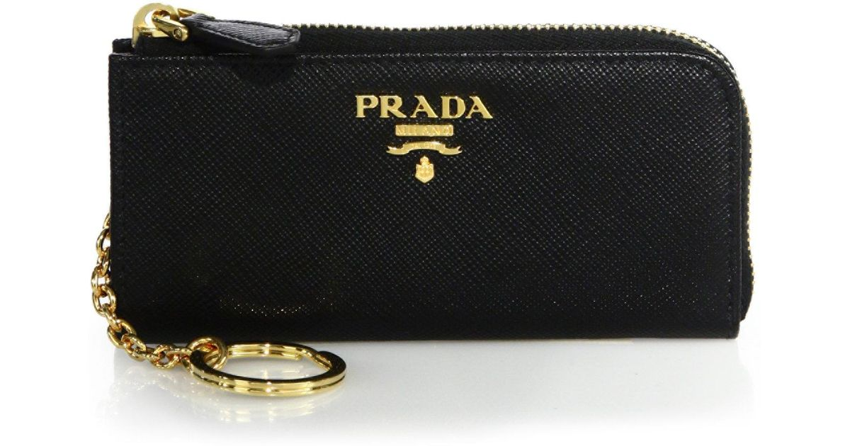 Prada Saffiano Leather Zip Around Wallet HPPdTeau
