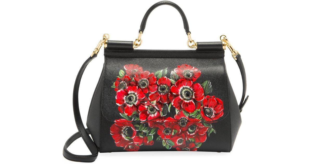 Dolce   Gabbana - Multicolor Medium Anemoni Print Leather Sicily Satchel -  Lyst b190590698d