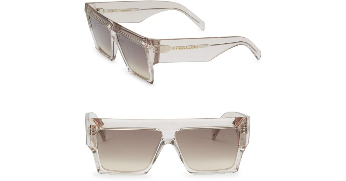 f17d44f8ab6e Céline 61mm Wraparound Sunglasses in Pink - Lyst
