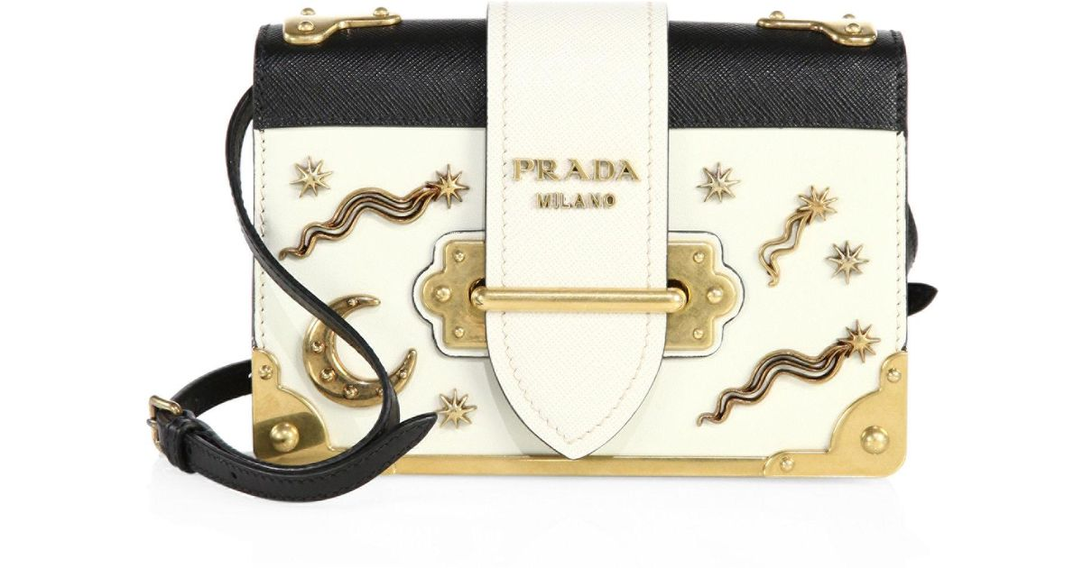 a6a7ee66dbc0 ... where can i buy lyst prada city leather celestial cahier shoulder bag  ad1cf 419fb