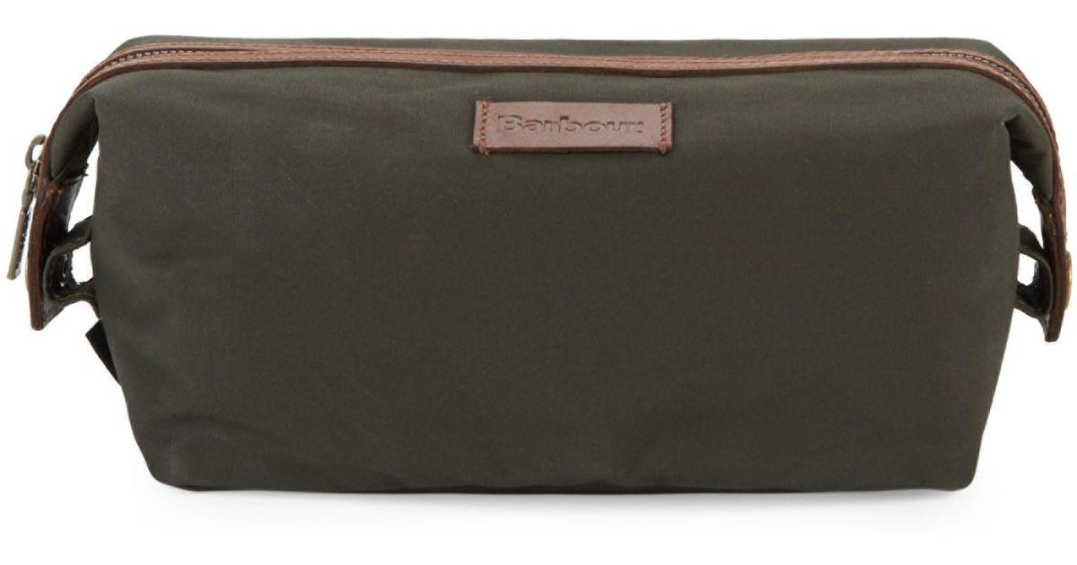 5365dec23d8b Barbour Drywax Convertible Washbag in Green - Lyst