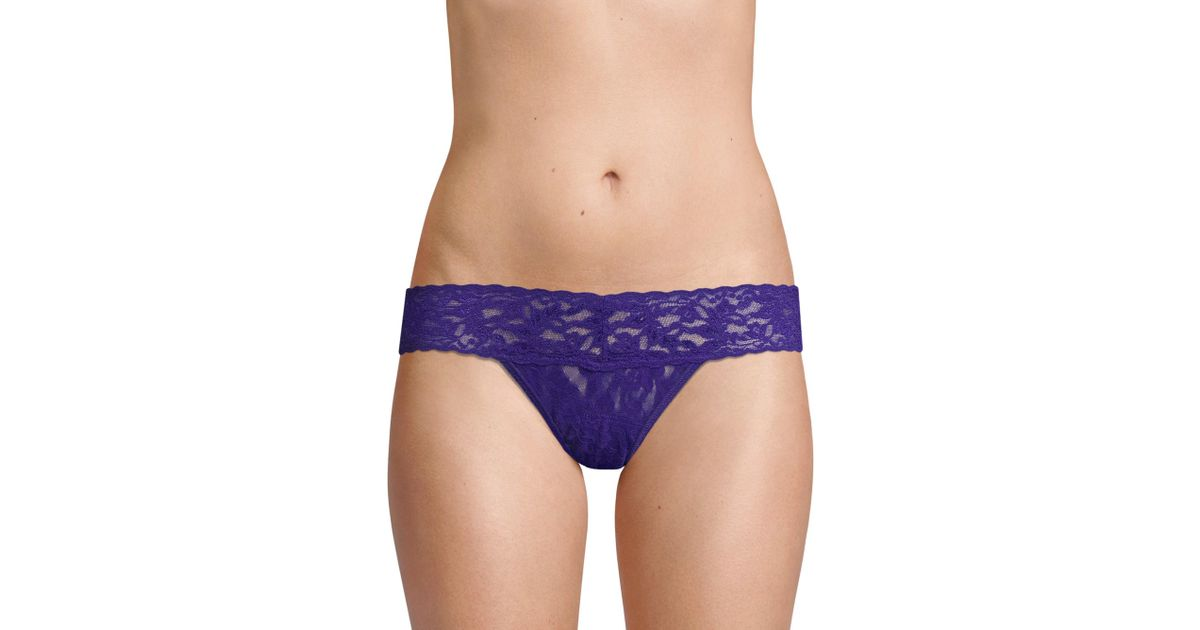 ce1f5465f25 Hanky Panky Low-rise Holiday Thong in Blue - Lyst