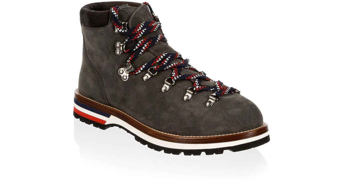 Moncler Peak Lace-Up Leather Boots
