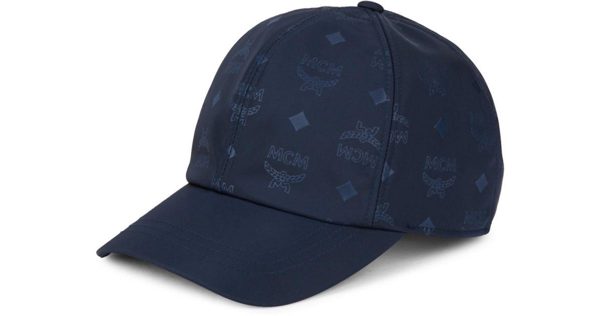 970fee9e9eab4 Lyst - MCM Logo Baseball Cap in Blue for Men