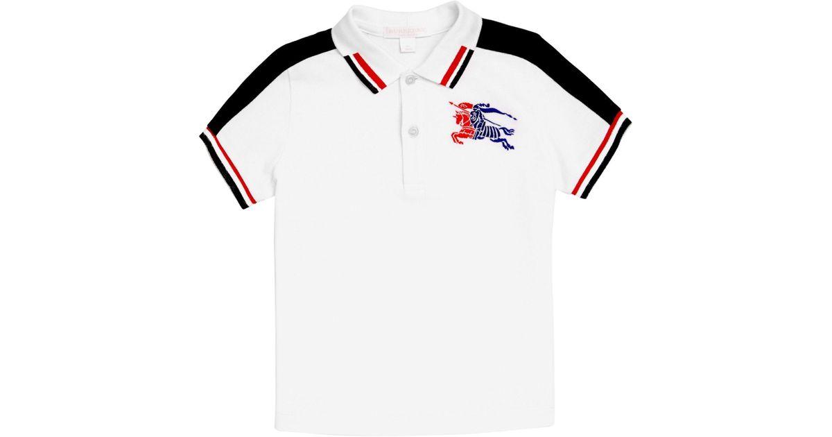 on sale 0d205 ddd58 Burberry - Little Boy's & Boy's Eric Cotton Polo - White - Size 10 for Men  - Lyst