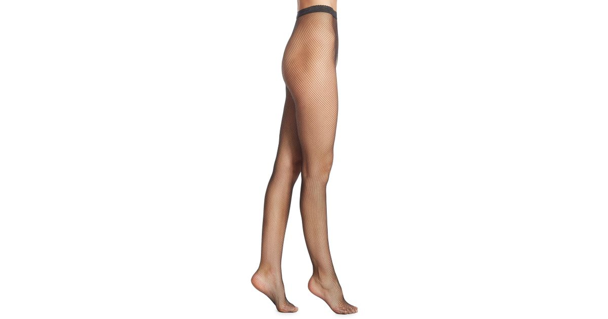 9eaafb023267a Wolford Small Fishnet Tights in Black - Lyst