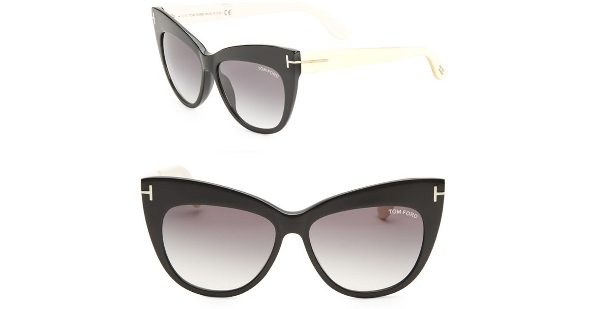 6363290ae65 Lyst - Tom ford Nika 56mm Cat Eye Sunglasses in Black