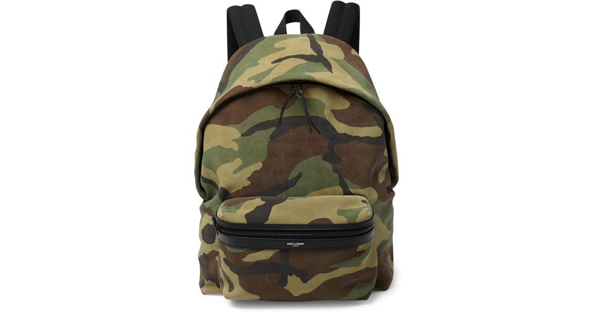 87ebf4ee932b Lyst - Saint Laurent Camouflage Hunting Backpack for Men
