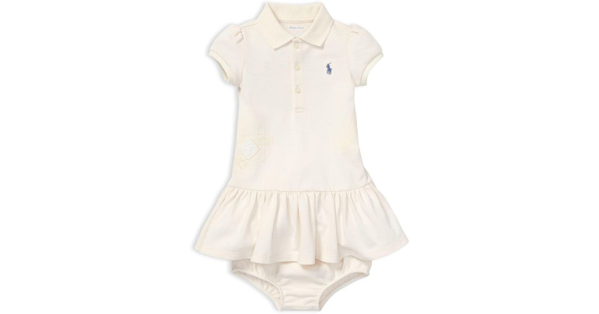 4e35defef8 Ralph Lauren - Natural Baby Girl's 2-piece Cotton Polo Dress & Bloomers Set  - Lyst