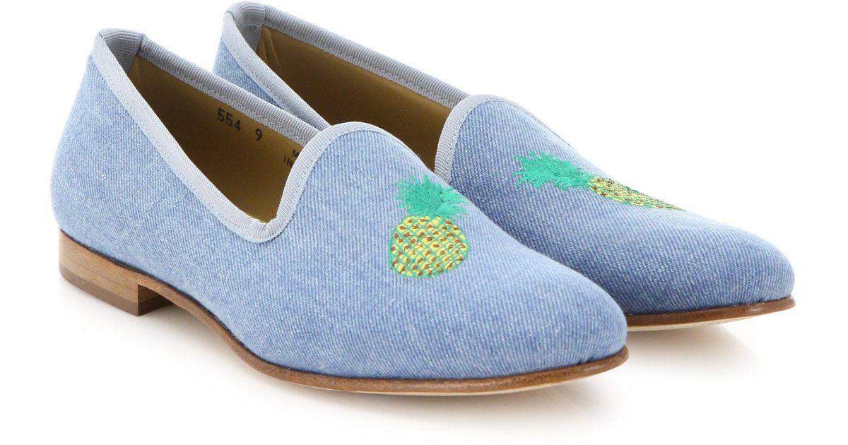 DEL TORO Pineapple Denim Loafers F9Btv