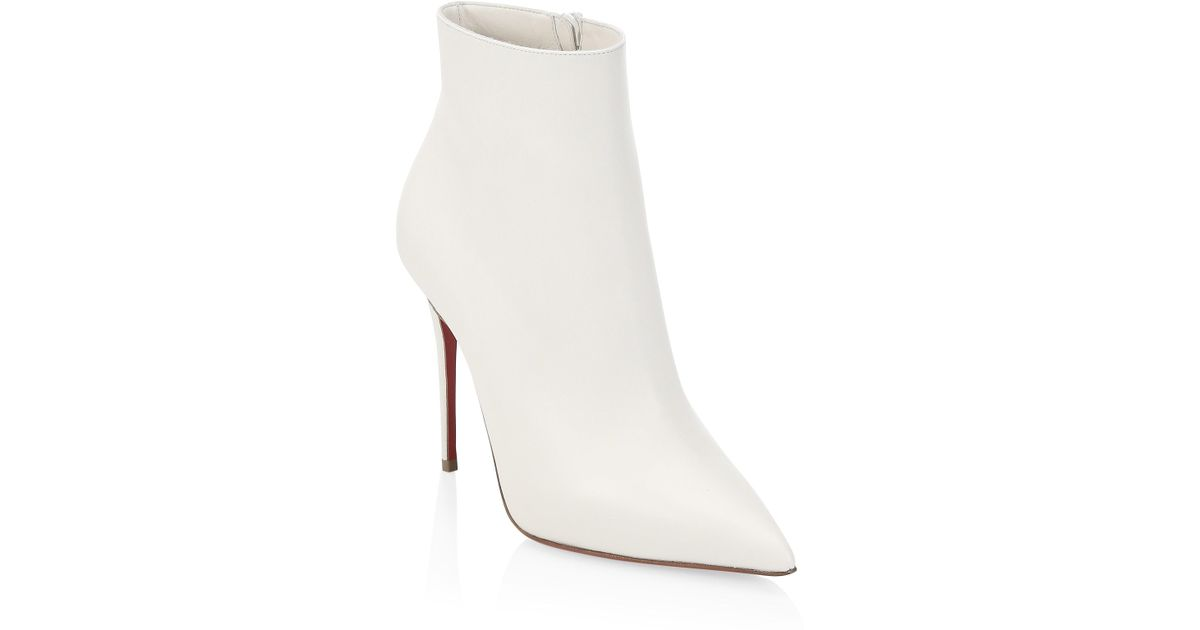 a6dc3b6675c Christian Louboutin Women s So Kate 100 Leather Booties - Snow - Size 36.5  (6.5) in White - Lyst
