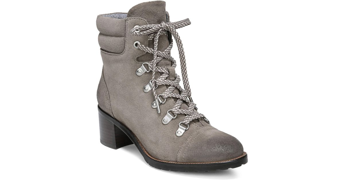 c87b3aac5 Sam Edelman Women s Manchester Faux Fur Suede Lace-up Boots - Grey - Size  11 in Gray - Lyst