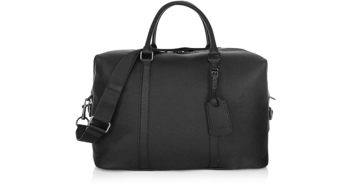 1759a5a86bab COACH Zip Leather Messenger Bag in Black for Men - Lyst
