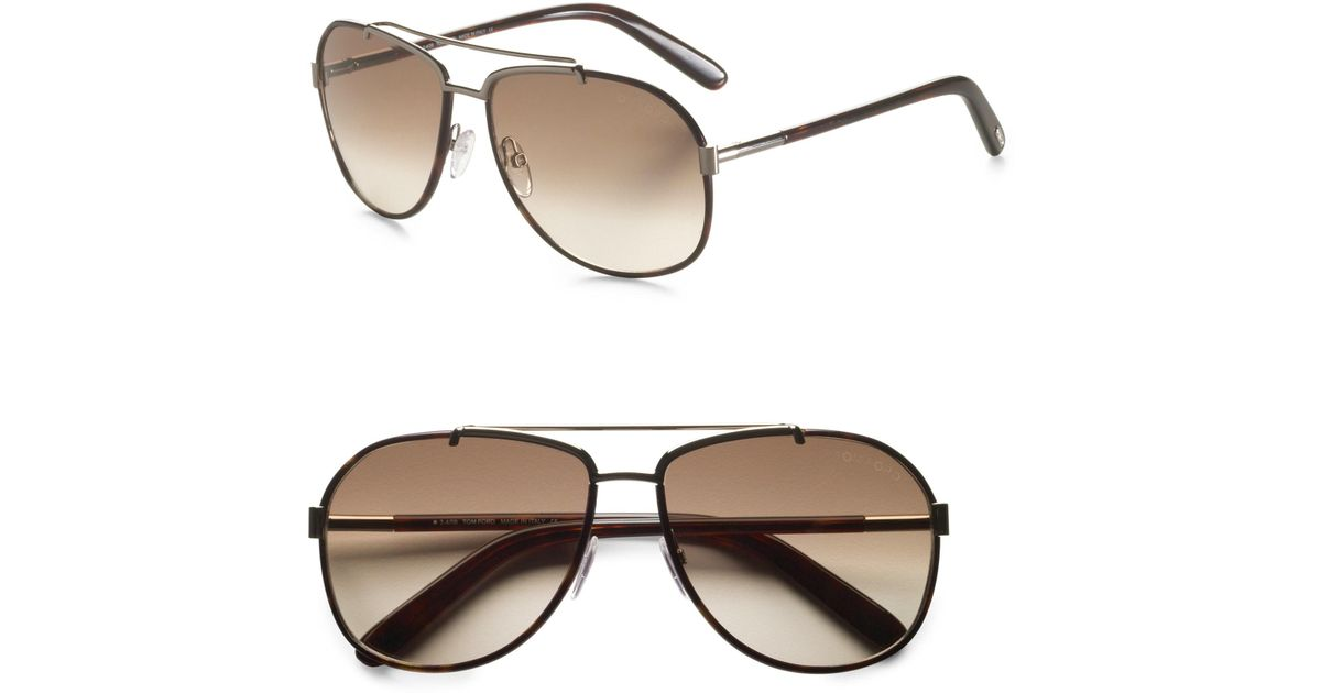 30597ed98df3 Lyst - Tom Ford Miguel Navigator Sunglasses in Gray for Men