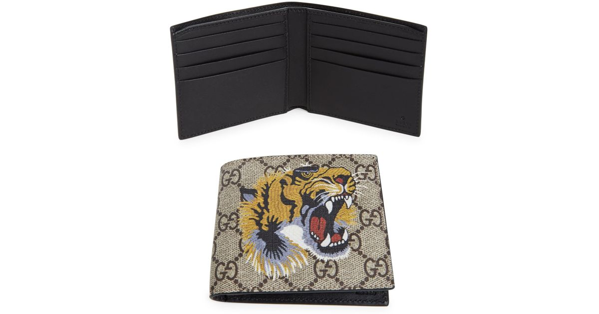 ebc7fe901f08 Gucci GG Tiger Billfold Wallet for Men - Lyst